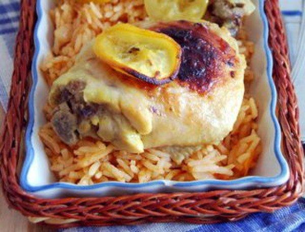 Рецепт                  Запеченная курица с лимоном