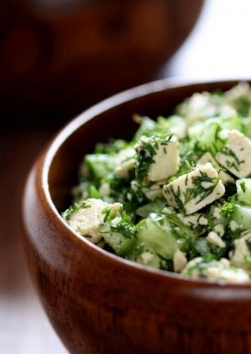 Рецепт                  Салат из тофу с огурцами