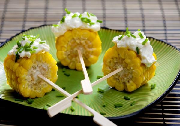 Рецепт                  Закуска из кукурузы с зеленью и сливочным сыром