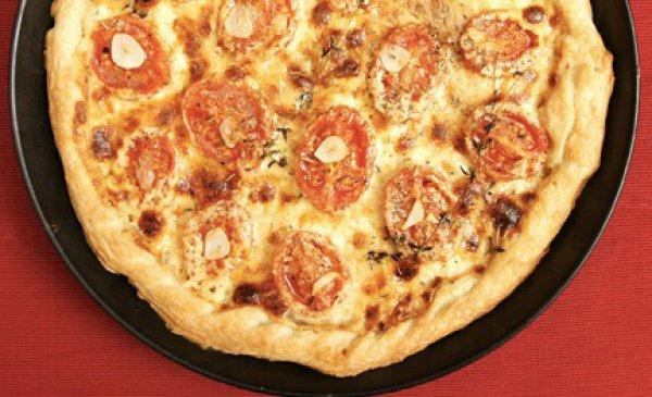 Рецепт                  Пирог с пармезаном и томатами-черри