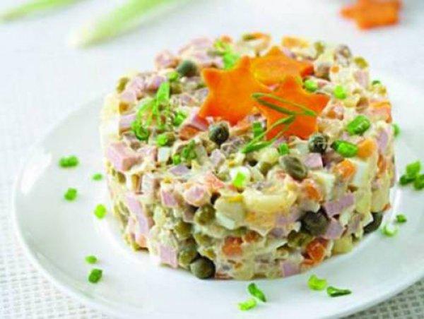 Новогодние салаты с фото салат оливье