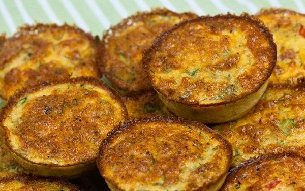 Рецепт                  Мини-омлеты с овощами в духовке