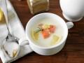 Сливочный суп с лососем и картофелем