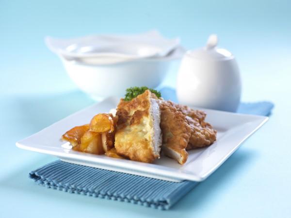 Рецепт                  Жареная свинина с яблоками и горчицей