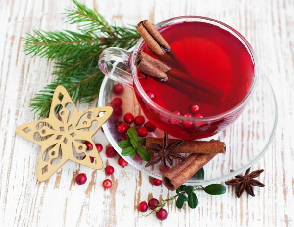 Рецепт                  Новогодний пунш из ягод с корицей