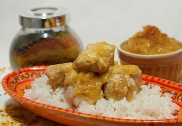 Рецепт                  Курица с чатни из айвы