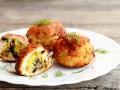 Куриные котлеты с начинкой из грибов и сыра