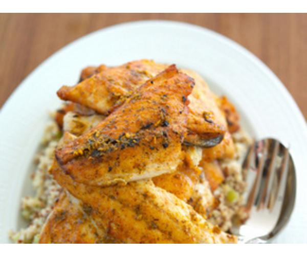 Рецепт                  Рыба с куркумой