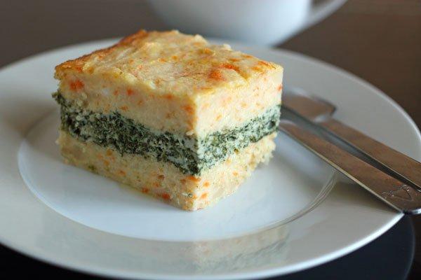 Рецепт                  Картофельная запеканка с курицей и шпинатом
