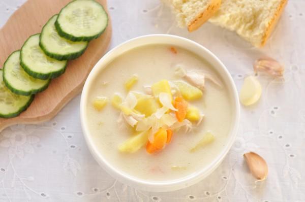 Зимний суп из курицы