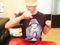 Оля Полякова носит футболку с изображением Владимира Кличко: Он на мне