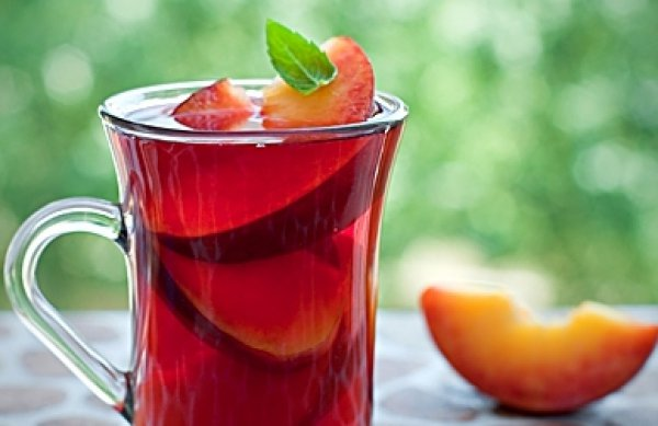 Рецепт                  Каркаде с персиком