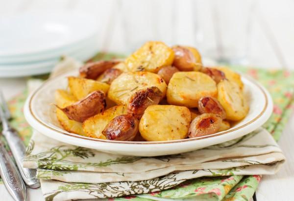 Рецепт                  Запеченный картофель с чесноком