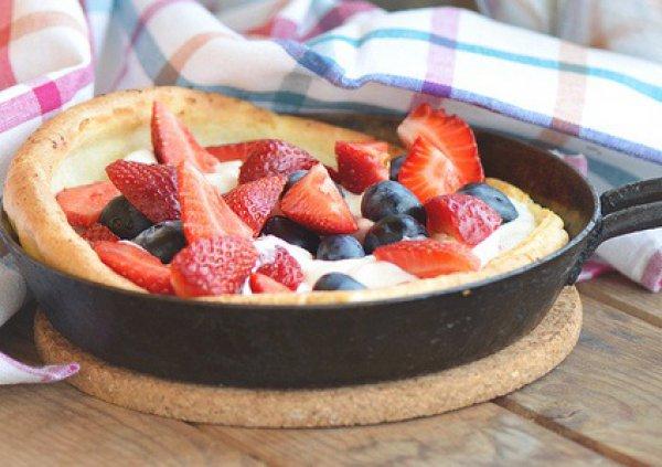 Рецепт                  Датские оладьи с ягодами