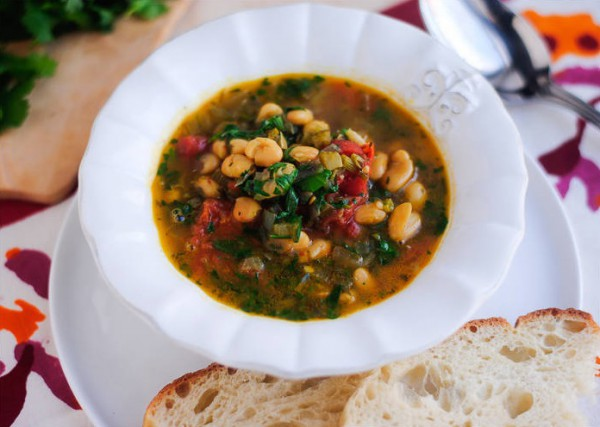 Рецепт                  Томатный суп с белой фасолью