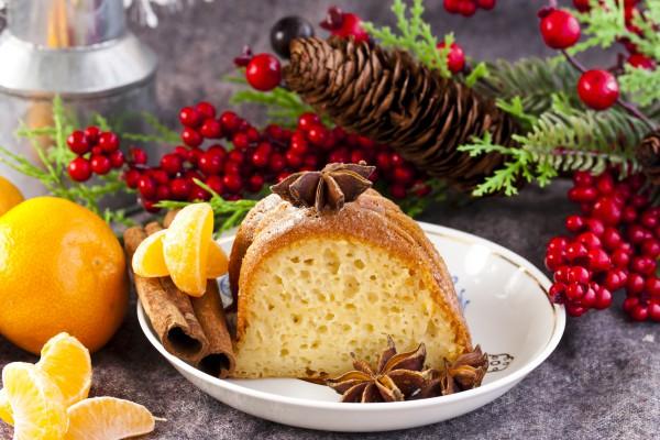 Рецепт                  Рецепты на Рождество: Творожный кекс с мандаринами