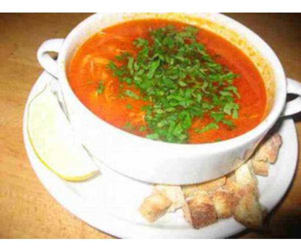 Рецепт                  Суп с помидорами и вермишелью