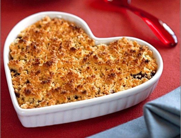 Крамбль в форме сердца - вкусный подарок на День Валентина