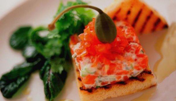 Рецепт                  Норвежский тартар из семги