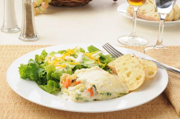 Рецепт                  Лазанья с творогом и шпинатом