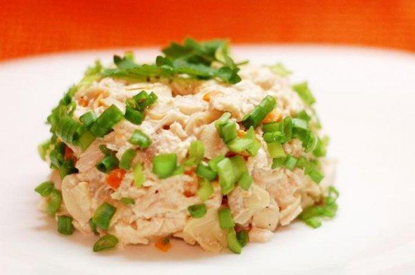 Рецепт                  Салат из курицы с маринованными грибами