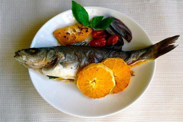 Рецепт                  Запеченная рыба с апельсинами