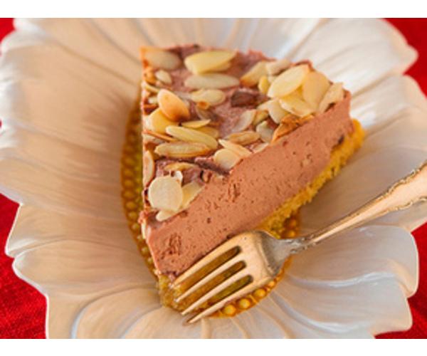 Рецепт                  Шоколадный чизкейк с миндалем