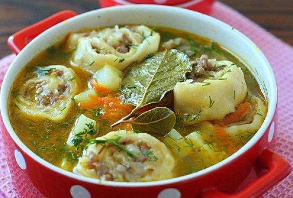 Рецепт                  Картофельный суп с ленивыми пельменями