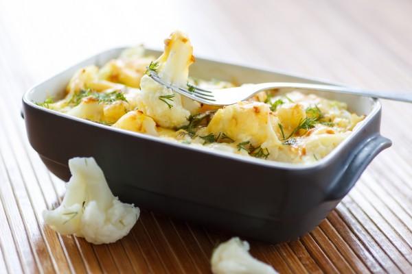 Рецепт                  Запеченная цветная капуста с сыром