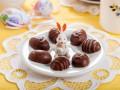 Шоколадные трюфели в виде пасхальных яиц