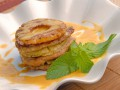 Запеченное мясо с ананасами и сыром