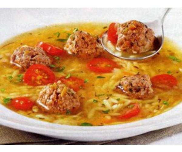 Рецепт                  Рисовый суп с фрикадельками
