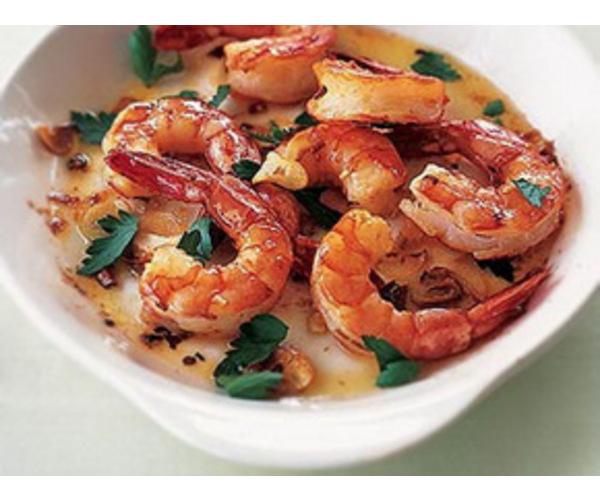 Рецепт                  Испанские печеные креветки