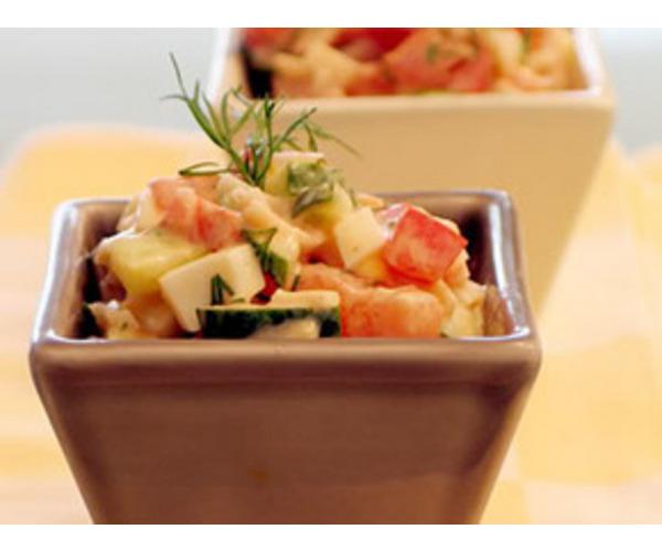 Рецепт                  Салат из овощей с крабовым мясом