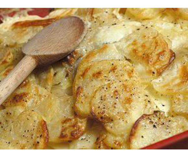 Рецепт                  Картофель запеченный с молоком и сыром
