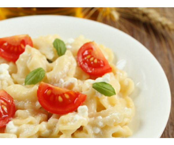 Рецепт                  Паста с помидорами