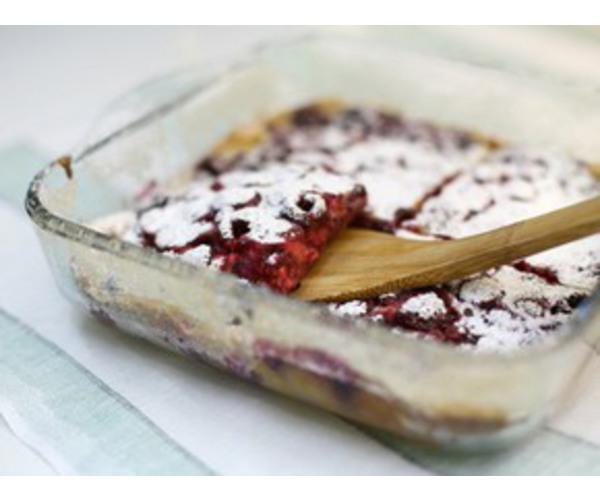 Рецепт                  Малиновый клафути