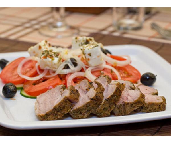 Рецепт                  Свиная вырезка с пряными травами