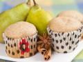 Творожные кексы с грушей