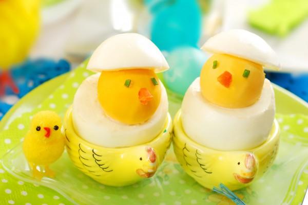 Рецепт                  Пасхальные цыплята из яиц