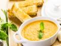 Суп-пюре из запеченных желтых томатов
