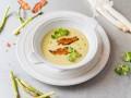 Весенний суп из спаржи с беконом