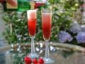 Клубничный коктейль с шампанским