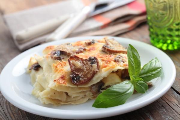 Рецепт                  Лазанья с грибами