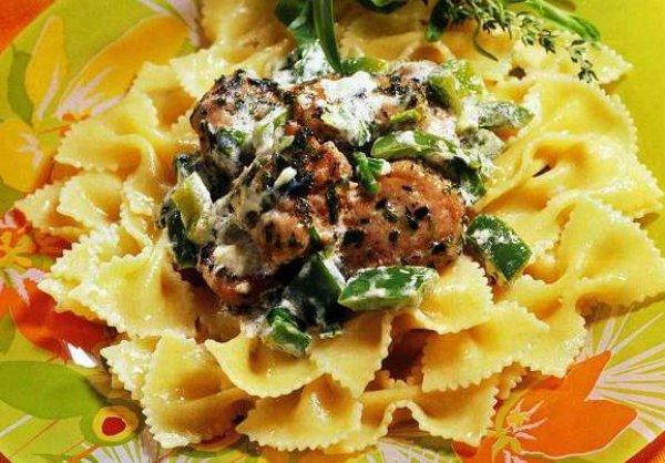 Рецепт                  Паста с телятиной и зеленым перцем