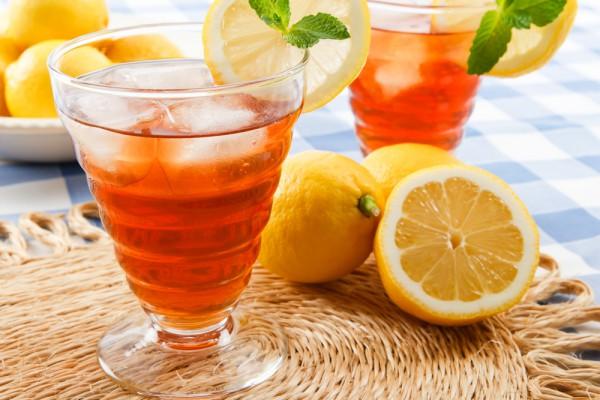 Рецепт                  Холодный чай с лимоном