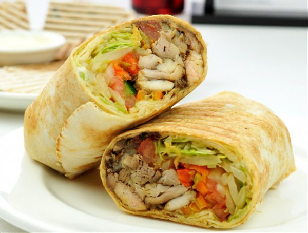 Рецепт                  Шаурма с курицей и овощами