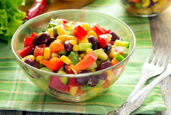 Рецепт                  Овощной салат в мексиканском стиле