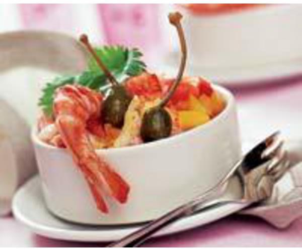 Рецепт                  Креветочный салат по-креольски