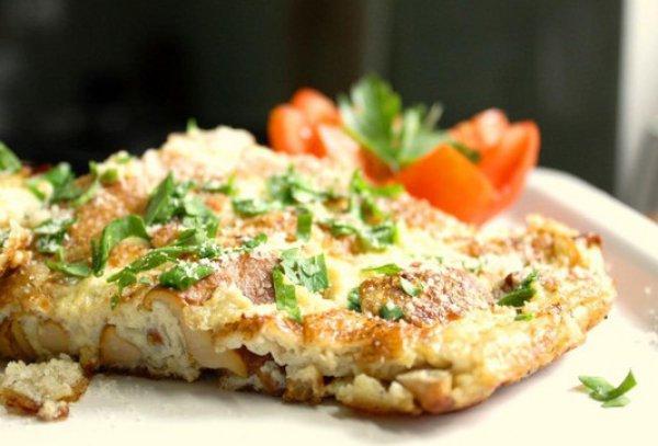 Рецепт                  Фриттата с грибами и зеленью